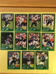 2002 Topps New England Patriots Team Set 11 Cards Tom Brady First Topps Card