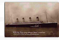 jwd23: WHITE STAR SHIP TITANIC, Circa 1912 RPPC/postcard