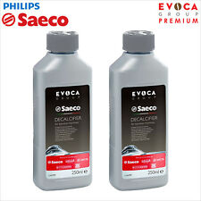 2 x Philips Saeco Decalcifier Descaler 250ml Espresso Coffee CA6700 CA6701 Evoca