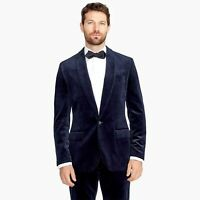 New J CREW Ludlow velvet blazer 38/R navy blue suit jacket shawl collar
