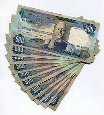 Angola 1972 500 Escudos F Banknote Paper Money X 10 Piece Lot Marechal Carmona