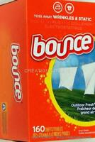 BOUNCE 160 Count Fresh Linen Dryer Sheets Fabric Softener  **  NOTE 160 SHEETS