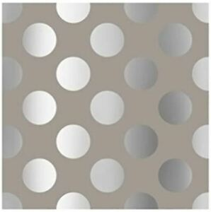 The Gift Wrap Company 8' Gift Wrap Roll, Chrome Dots (76-3666)