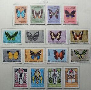 Papua Scott #209-224, 2 Sets, Mint Original Gum (HR)