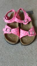 Joules pink & white footbed sandals shoes  BNWT size 3