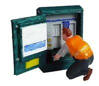 FG03  Telephone Engineer & Cabinet Figure unpainted N scale