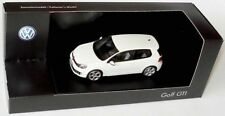 VERY RARE VW GOLF VI 6 GTI 3 DOOR 2009 CANDY WHITE 1:43 SCHUCO (DEALER MODEL)