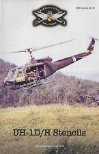 WW Decals 48-15 1/48th UH-1D/H Stencils