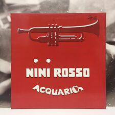 NINI ROSSO - ACQUARIO LP EX/EX 1975 ITALY SPRINT Spl. AI 6020 GATEFOLD COVER