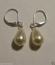Leverback Pearl Drop/Dangle Costume Earrings