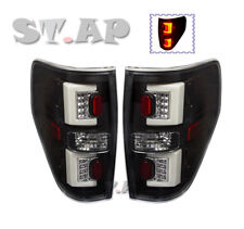 09-14 F-150 F150 Streak Style Red Led Brake Signal Tail Lights Lamps Black