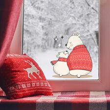 Polar bears with sparkles window stickers   Christmas window stickers