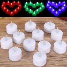 12pcs LED Tea Light Candles Realistic Flameless Tealights Wedding Birthday  SU