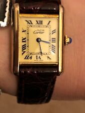 Cartier Vermeil Sterling Silver Ladies Watch Vintage