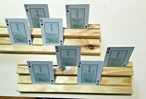 Wood playing cards holders to help you see all your cards at once Set 2