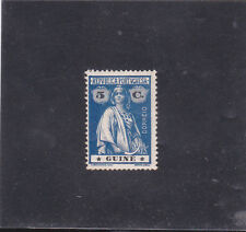 PORTUGUESE GUINEA CERES 5 C Porcelana 15x14 VARIETY STARS I-I (1914) C.V 40 Euro