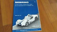 1961 Sebring 12 hour race program Phil Hill Olivier Gendebien win Ferrari 250