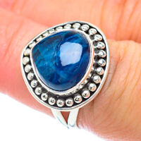 Chrysocolla In Quartz 925 Sterling Silver Ring Size 7.25 Ana Co Jewelry R56386F