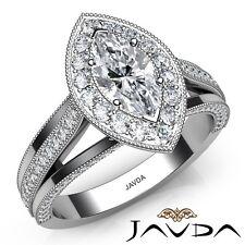 2.12ctw Sfilata Milligrana Taglio Marquise Anello di Fidanzamento con Diamanti