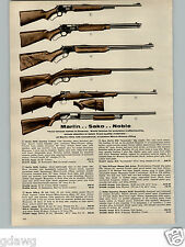 1956 PAPER AD Sako Hi Power Mauser .270 Bolt Action Finnish Rifle Marlin Noble