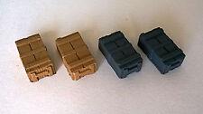 RC Panzer Zubehör 4 kleine Munitionskisten 1:16 (59) **Neu**