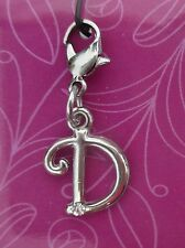 cc D INITIAL CHARM Cherish Charms with crystal