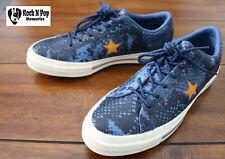 22dec6d1adf Women s Converse One Star Ox REPTIL Pattern Blue gold egret Sz 8 Unisex  Men s