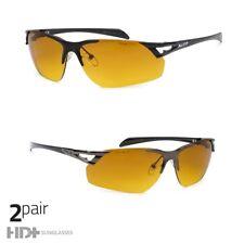 HD Driving Metal PILOT SunGlasses Blue Blocker High Definition GUNMETAL Matte