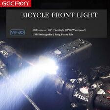 GACIRON USB Rechargeable Bike Front Handlebar Light 600Lume Flashlight LED Lamp