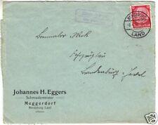 Landpoststempel, Poststelle II, Meggerdorf über Rendsburg, Rendsburg, 6.4.38