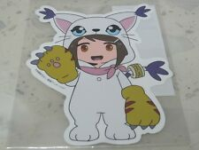 Digimon tri. KIDDY LAND Die-Cut Sticker - Hikari Kari in Tailmon Gatomon Costume