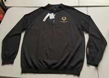 NEW THE RYDER CUP 2018 LE GOLF NATIONAL FRANCE 1/4 ZIP SWEATER MEN'S SIZE LARGE