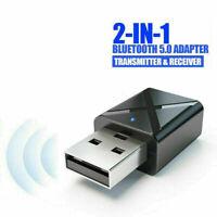 Car 2-in-1 Transmitter Receiver Wireless Audio USB T8H1 PC Bluetooth 5.0 H2O7