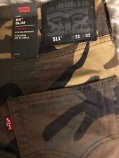 Levis Slim / Skinny Camouflage 31 X 32 Stretch Jeans