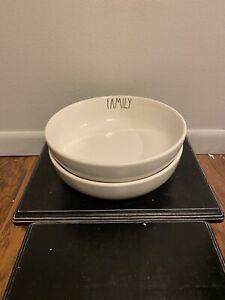 Rae Dunn FAMILY Pasta Bowl Set~ Set Of 2
