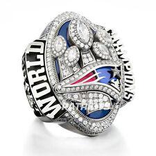 New England Patriots Championship Ring 2016 2017 Superbowl LI Brady Wooden Box