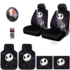 10PC JACK SKELLINGTON NIGHTMARE BEFORE CHRISTMAS CAR SEAT COVER SET FOR JEEP