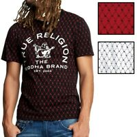 True Religion Men's Buddha Logo Monogram Tee T-Shirt