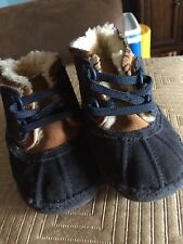Ugg Infant/Toddler Size 4/5 (12-18 Months) Arly Leather Boots (Navy Blue/brown)