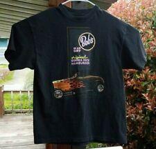 Bob's Big Boy 1992 Vintage Original Double Deck Hamburger Men's L Black T-Shirt