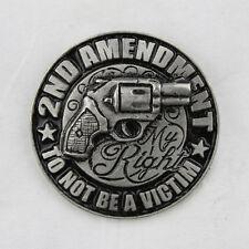 Biker Chopper 2nd amentment not a victim Rivoltella Gun pin spilla spilla