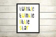 """""""Twinkle Twinkle Little Star"""" Nursery Art Print / Picture For Kids Bedroom"""