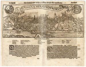 Antique Print-MEISSEN-GERMANY-ELBE-Munster-1598