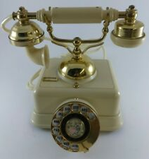 Rotary Dial Telephone Vintage French Victorian Japan Made JN-4 Cream Color