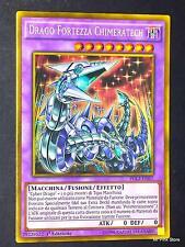 DRAGO FORTEZZA CHIMERATECH Fortress Dragon PGL3-IT057 Gold in Italiano YUGIOH