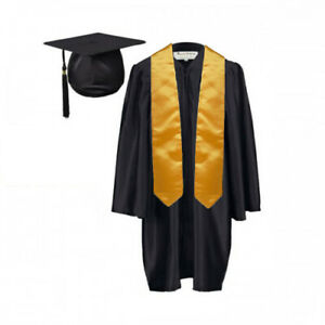 Children's Nursery Graduation Gown and Hat and Stole Pack age 3--6 year kids