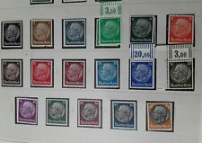 DR 1933/41 Hindenburg swaztika watermark, full set of 17 mnh