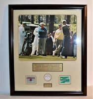 1996 Masters Arnold Palmer, Jack Nicklaus & Tiger Woods #60/200 Badges Custom Fr