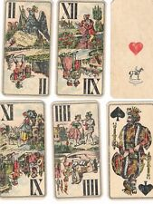 ANTIQUE 1800-1900 TAROT FERD. PIATNIK & SON, WIEN 54 PLAYING CARDS
