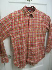 Tommy Hilfiger Plaid Men's Button Down Shirt Size Large Excellent Condition